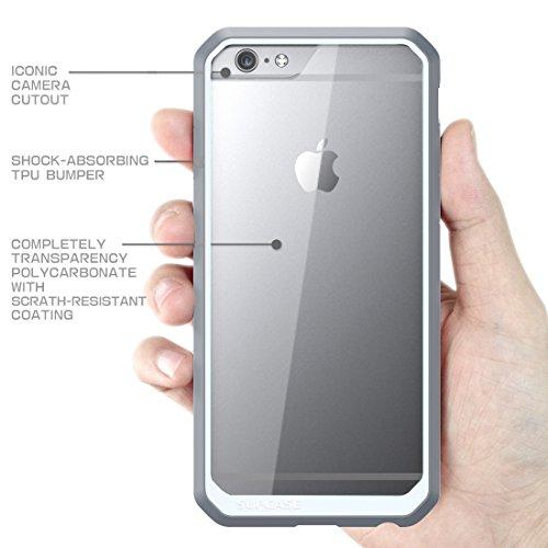 iPhone 7 plus Hülle,Ultra Slim transparente kratzfeste Bumper-Style Handyhülle Premium Silikon TPU+PC Material Schutzhülle für iPhone 7 plus Blau Weiß