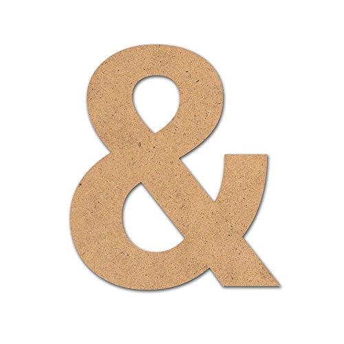 Detalles Infantiles Symbole en bois « & » 10 cm
