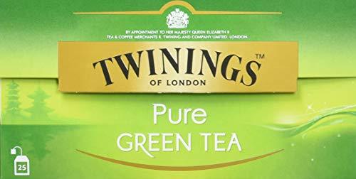 Twinings Pure Green Tea ∙ Die reinste Form des grünen Tees, ursprünglich und für puren Genuss ∙ 25 Teebeutel, Grüntee 12er Pack Tee (12 x 50 g)