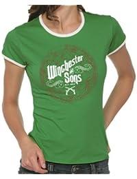 Touchlines Winchester and Sons Girlie Women's Ringer T-Shirt