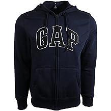 Gap Mens Fleece Arch Logo Sudadera con cremallera completa