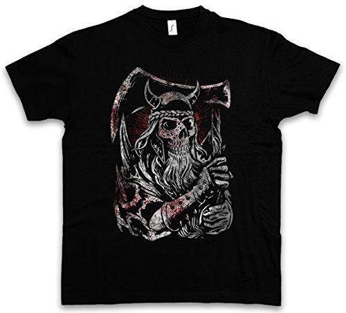Urban Backwoods Viking Skull III T-Shirt - Taglie S - 5XL Nero