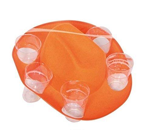 Trink Cowboy Hut - Farbwahl Orange