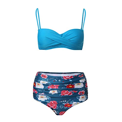 431d0a252d3c Mymyguoe Bikini de Dos Piezas Acolchado Plisado, Bikinis Mujer 2019 Push up  Bañador Natacion Tankini Tallas Grandes Bikinis brasileños Tanga Bikini ...
