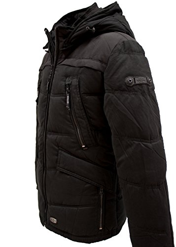KHUJO Herren Long-Jacke CHAD in schwarz peached black