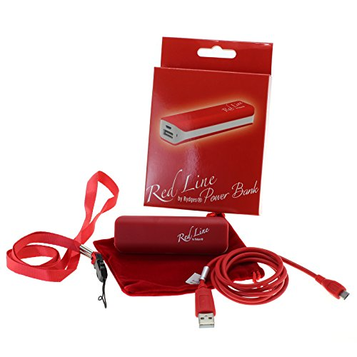 Red Line by Rydges High-Quality PowerBank Reise-Ladegerät Zusatzakku 5V / 2200 mAh Steckernetzteil - für alle Samsung / Alcatel / Blackberry / Doro / Google / HTC / Huawei / Oneplus one / Kazam / Kyocera / LG / Motorola / Nokia / Palm / Sanyo / Sony - Handys - Tablets - eBooks - MP3 Player - mit micro-USB Anschluss / Kompatibilitätsliste befindet sich in der Beschreibung / ideal beim Spielen von Pokemon GO