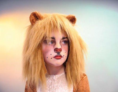 Plüschhaube Löwenhaube mit Ohren Löwe Kinder Karneval Tiermütze (Löwe Kostüm Haar)
