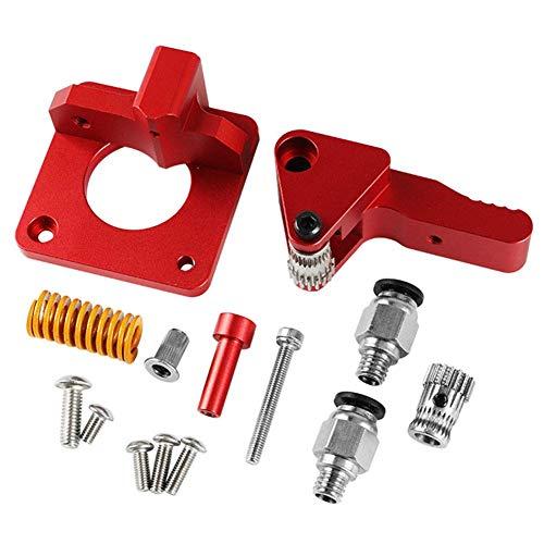 Extruder Set Aluminiumlegierung Direct Drive Ersatz 3D Drucker Langlebig Dual Gear Praktischen Upgrade Doppel Riemenscheibe Hitzeschutz Zubehör Teile für Cr-10S Pro -