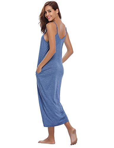 Abollria Camis/ón sin Mangas para Mujer Algodon Vestido Verano Playa Casuales Camis/ón