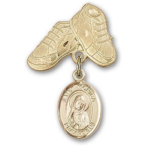 Icecarats Oro Gioielli Di Design Riempito St. Monica Stivali Fascino Bambino Pin 1 X 5/8