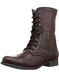 bf7e59b3f0 Steve Madden Troopa, Women's Unlined combat boots half length Black