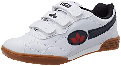 Lico Bernie V - Zapatillas deportivas para interior de material sintético infantil, Blanco weiss/marine...