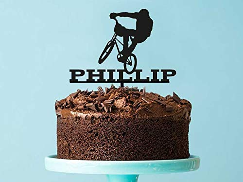 Décoration de gâteau d'anniversaire personnalisable pour BMX - Décoration de gâteau BMX - Décoration de gâteau - Fabriqué à Melbourne en Australie