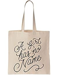 Arya Stark A Girl Has No Name Slogan Cotton Canvas Tote Bag Bolsa de tela de algodón