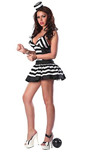 WEII Erotische Kleidung Europäischen und Amerikanischen Spiel Uniformen Schwarz und Weiß Weibliche Gefangener Kostüme Cosplay Weibliche Gefängnis Uniformen Bühnenkostüme,Bild,Einheitsgröße
