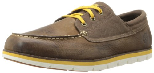 TIMBERLAND EKHRBRSD 6303A hommes Chaussures à lacets Dark Brown/Yellow