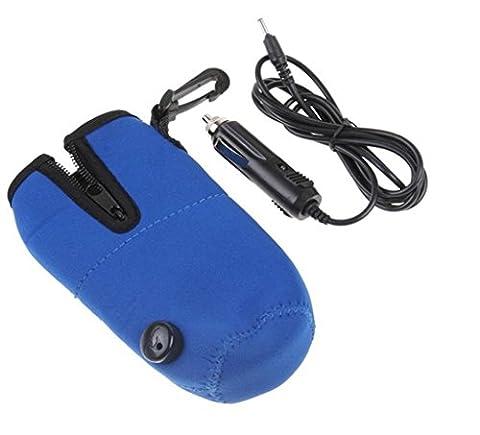 ewinever(TM) 1 Pcs Universal Safe Voyage chauffe biberon Warmer pour bébé Kid En voiture avec allume-cigare Câble bleu