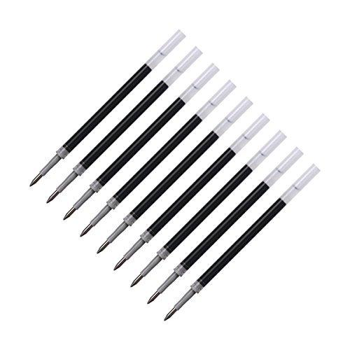 ELZO Nachfüllminen, 10 Stück Minen 3 in 1 Kapazitive Eingabestift Disc Stylus Gel Stift, 0,5 mm Metallspitze Kugeldurchmesser, Schwarz - 1/2 Chr