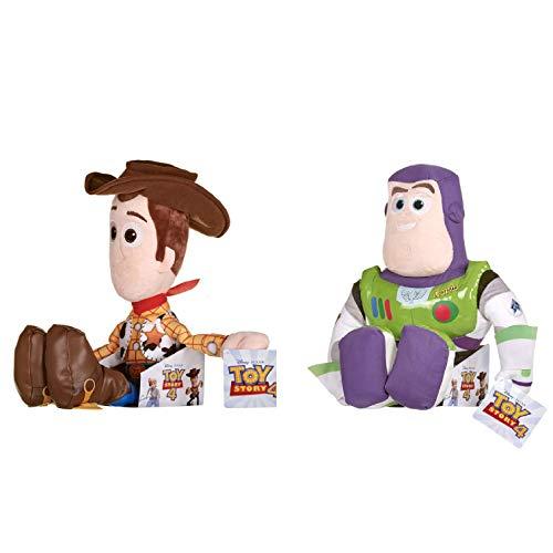 Price Toys Toy Story 4 Colección Suave del Juguete de Disney Pixar - Woody y Buzz Lightyear (Woody / zumbido)