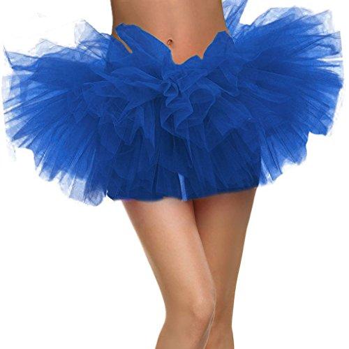 Landove Mini Gonna Tulle Donna Ragazza Danza Abito Ballerina Ballo Organza Pizzo Layered Vestito Principessa Partito Tutu Skirt Sexy Petticoat Rockabilly Sottoveste Sottogonne Clubwear Taglia S