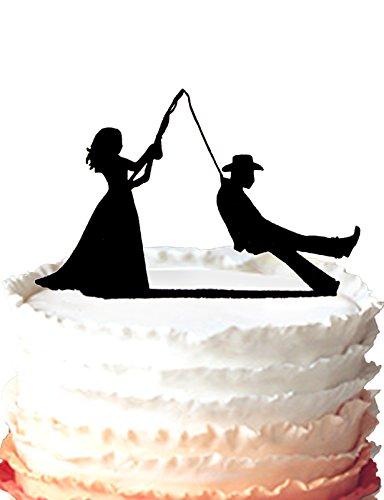 kaishihui sposo pesca Funny Wedding Cake Topper