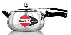 Hawkins Contura Aluminum Pressure Cooker, 5 Litres