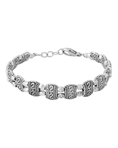 Voylla Silver Oxidized Designer Bracelet For Women  available at amazon for Rs.299