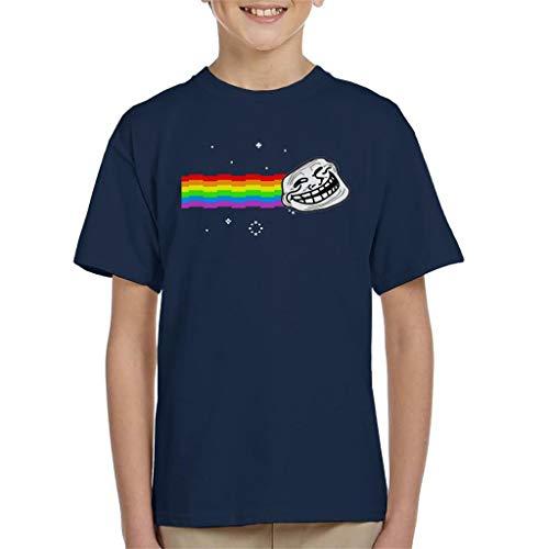 Troll Face Nyan Cat Meme Kid's T-Shirt