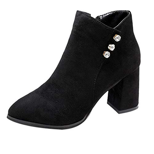 MYMYG Frauen Stiefeletten Herbst Winter Kurze Stiefel High Heel Schuhe Stiefel Ankle Boots Schuhe Schneestiefel Schneeschuhe Madeline Boots Chelsea Boots ()