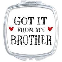 DIYthinker Para mi Familia Que recibió de Mi Regalo de Hermano Lindo portátil pequeño Mano Espejos
