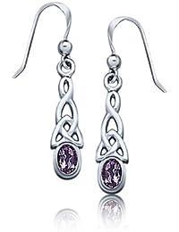 Bling Jewelry Amethyst Blende Keltische Knoten Ohrringe 925 Silber