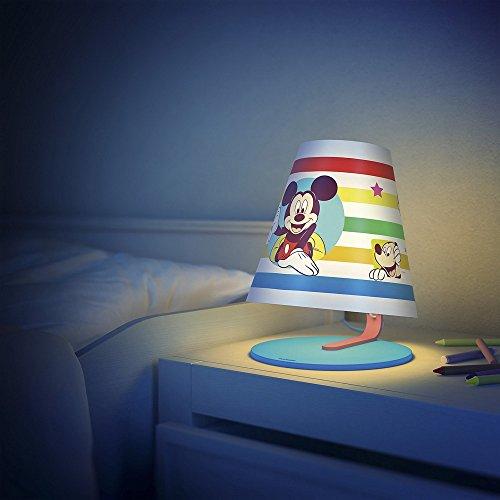 PHILIPS Micky Maus LED Tischleuchte für Kinder Nachttischlampe Kindertischlampe mit Schalter