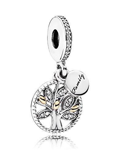 PANDORA - Pendente di fascino d'argento Legacy Family 925/1000 e 585/1000 oro PANDORA 791728CZ