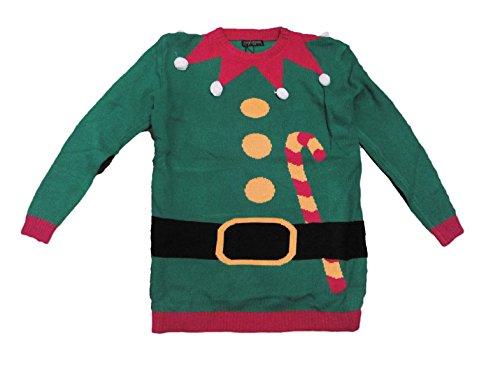 Weihnachten Pullover Jumper in Weihnachts Elf Candy Cane Gürtel Design aus ', Verschiedene Größen, Unisex Tollen Preis erhältlich, Multi, Extra Large