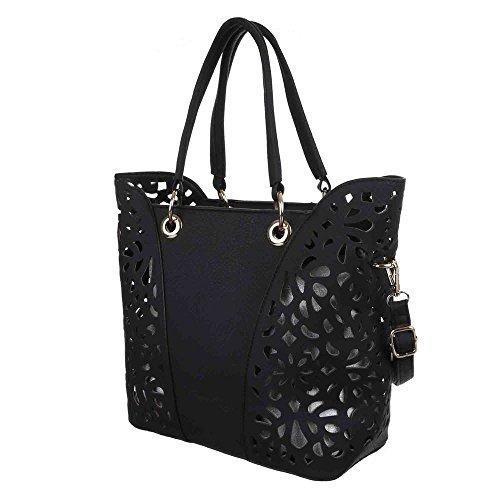 Ital-DesignShopper/Umwelttasche bei Ital-Design - Shopper ecologica Donna Nero (nero)