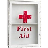 Clayre & Eef W5Y0197 5Y0197 Erste Hilfe Kasten Medikamentenschrank Medizinkasten weiß / rot ca. 33 x 13 x 47 cm preisvergleich bei billige-tabletten.eu