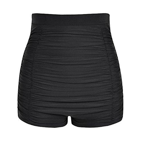 Laorchid Damen Frauen hoher Taille Bikini Hose Shorts Bauchweg Boyleg Stil L