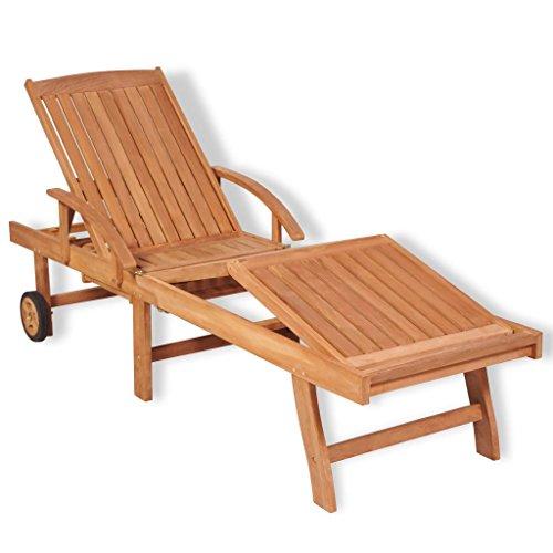 Fesjoy sdraio da giardino lettini da giardino sun lounger regolabile lettino prendisole in legno reclinabile lettino da sole in legno massello di teak sedia da spiaggia sedia a sdraio piscina mobili