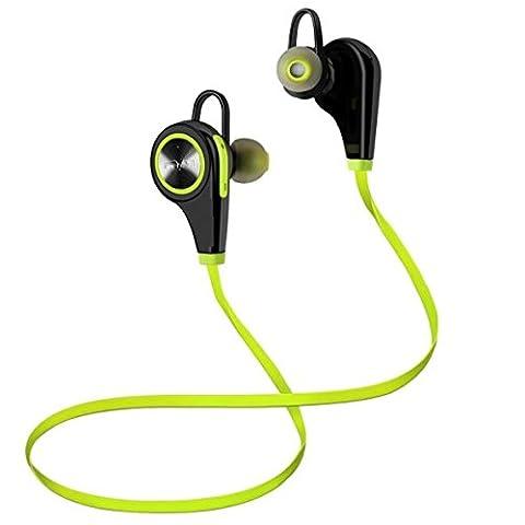 Bluetooth Kopfhörer In Ear Kopfhörer Bluetooth 4.1, mit Mikrofon für iPhone, iPad, Samsung, Nexus, HTC und mehr für Sport, Fahren und unterwegs