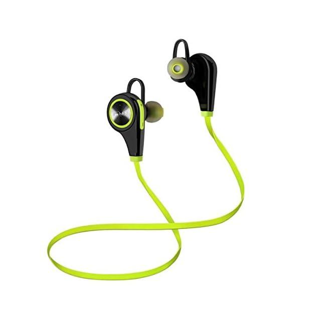 Kasos Oreillettes Bluetooth 4,1 Casque de Sport Ecouteurs sans Fil Stéréo compatible avec Smartphone et autres Appareils Bluetooth (Vert et Noir)