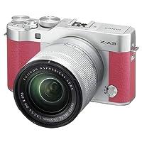 فوجي فيلم X-A3 - 24.3 ميجابكسل كاميرا رقمية ميرورليس مع مجموعة عدسات 16_ 50 ملم و50- 230 ملم، زهري