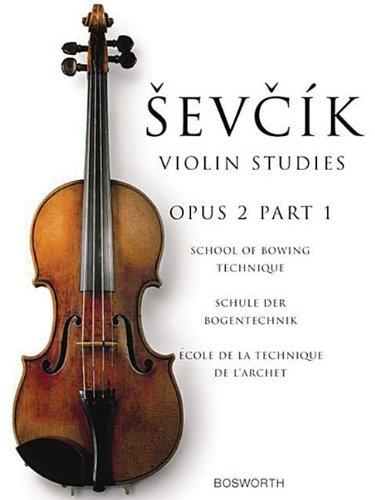 Sevcik Violin Studies. Opus 2 Part 1. Schule der Bogentechnik