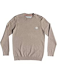 Quiksilver eqysw03228 Jersey Cuello Redondo para Hombre, Hombre, EQYSW03228, Beige, FR : S (Taille Fabricant : S)