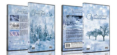 Weihnachten 2 DVD - Schneefall und Fallender Schnee & Winter Wunderland DVD Kollektion - Wunderschöne Natur Winterlandschaften für die Feiertage