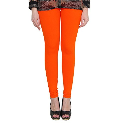 ALISHAH COTTON LYCRA CHURIDAR LEGGINGS FOR WOMENS AND GIRLS DARK ORANGE, Sizes :- XXL  available at amazon for Rs.274