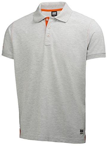 Helly Hansen Workwear Leichtes Poloshirt Oxford robustes Arbeitsshirt 950, Größe XL, grau, 79025