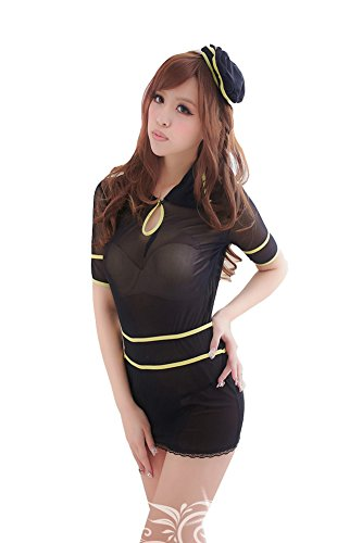 yinglite Damen Body Mehrfarbig mehrfarbig One size Gr. One size, (Fancy Dress Air Hostess Uniform)