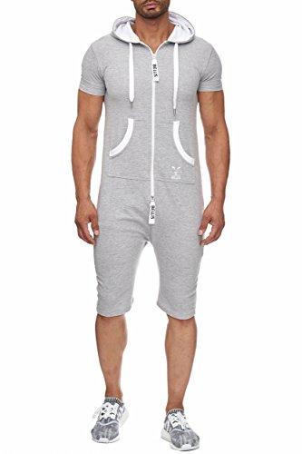 BELLIS Herren Jumpsuit Jogger Jogging Anzug Trainingsanzug Overall/S-XXXL/T-00014