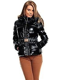 Winter Jacke Mantel Trenchcoat Parka mit Kapuze Schwarz Gr. S M L XL XXL 12012