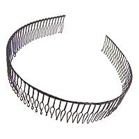 Mytoptrendz® Men and Women Flexi Metal Wire Teeth Comb Alice Headband Hairband Black